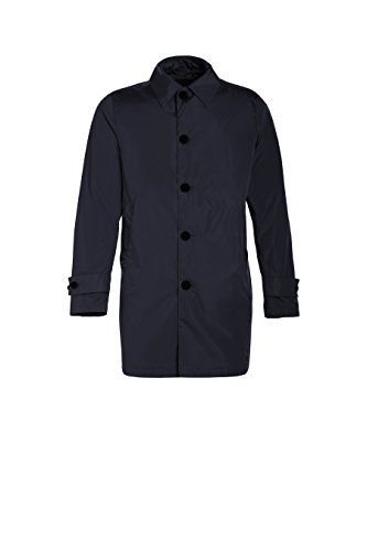 ADD JAM113-1641 Trench Impermeabile Estivo Uomo Blu Navy - Men's Trench Spring-Summer Made in Italy (L, Blu Navy)