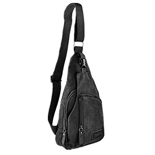 T-Bags Anti Theft Sling Bag Shoulder Chest Cross Body Bag Black-SB02B