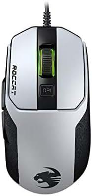 Roccat Kain 102 AIMO RGB Gaming Maus (8.500 Dpi Pro-Optic R8, 89G leicht, Titan Click Technologie) Weiß