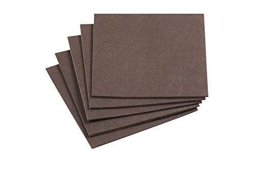 Meister 645526 - Foglio di feltro adesivo, 200 x 200 mm, 5 pezzi, colore marrone