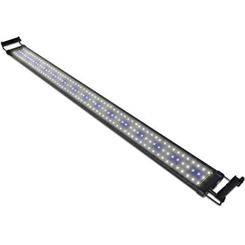 NICREW Classic LED Aquarium Beleuchtung, Aquarium LED Lampe mit Mondlicht, LED Licht für Süßwasser-Aquarien, 116-136 cm, 32 Watt, 7.000K