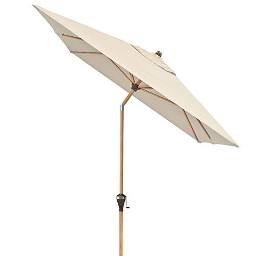 Doppler Alu Wood - Rechteckiger Sonnenschirm für Balkon und Terrasse - Edle Holzoptik - 300x200 cm - Natur