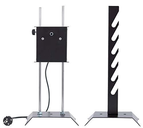 GIRARROSTO Elettrico LOSA con 4 Forchette Fermacarne e Spiedo in ACCIAIO INOX