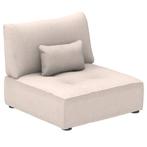 Marchio Amazon -Alkove Elvas - Divano Modulare - Modulo a seduta singola con vano contenitore e cuscino extra, 93 x 100 cm, beige