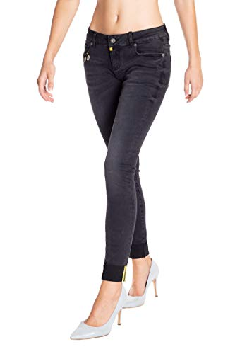 Blue Monkey Damen Cropped Jeans Honey 7178 Black Size 29
