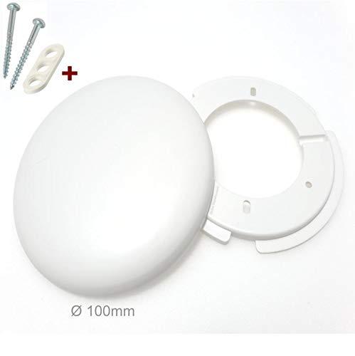4 Stück Globe Warehouse® Lampen Abzweigdosen, Verteilerdose, weiß Ø 100, superflach, mit Montageset, Decken Abdeckung