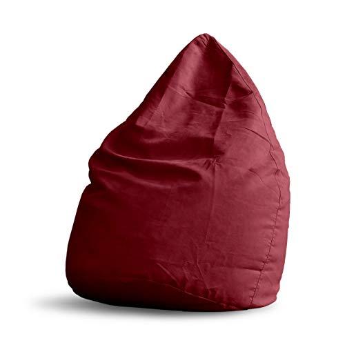 Lumaland Poltrona Sacco Luxury Poltrona Puff Pouf Cuscino Comfortline 120L Riempimento Innovativo Colore Rosso