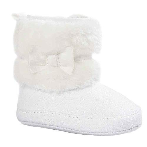 Elecenty Scarpine Neonato Bowknot Mantenere caldi morbidi stivali neve suola Scarpe morbide Stivali da bambino Baby 6~18 mesi