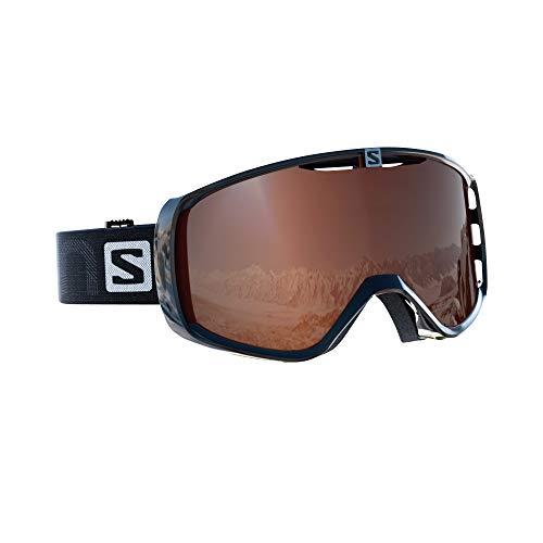 Salomon Maschera da Sci Unisex, Per portatori di occhiali, Tempo Variabile,Visiera Tonic Orange con...
