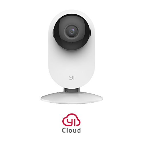 YI Camera IP Telecamera di Sorveglianza Wireless 720p Videocamera di Sicurezza da Interno WiFi - Home Camera HD con Sensore di Movimento e Controllo Remoto (Archiviazione in Cloud Disponibile) Bianco