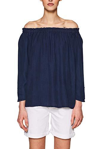 edc by Esprit 039CC1F017 Blusa, Azul (Dark Blue 405), M para Mujer