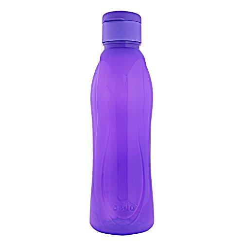Cello Fresca Flip Polypropylene Bottle, 1 Litre, Violet
