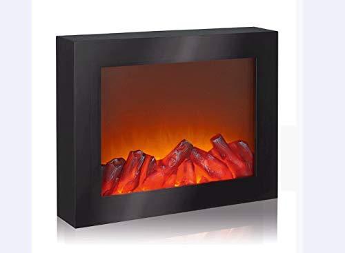 EASYmaxx 03422 LED-Kamin   Wandkamin   Deko-Kamin (Nur Kamin Optik)   Lodernde Flammen   Elektrischer Kamin   OHNE Heizfunktion   Timerfunktion   Kabellos   Schwarz