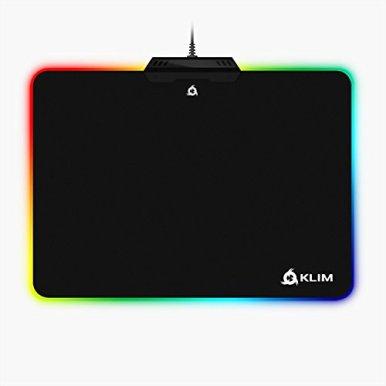 KLIM-Mauspad-RGB-Chroma-Gewebe-mit-hoher-Genauigkeit-Lichteffekte-Verschiedene-Moden-Gaming-Gamer-Videospiele