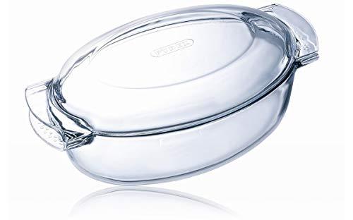 Pyrex Classic Casseruola Ovale con coperchio a tegame in vetro borosilicato 38x23x15cm_4,4+1,4lt