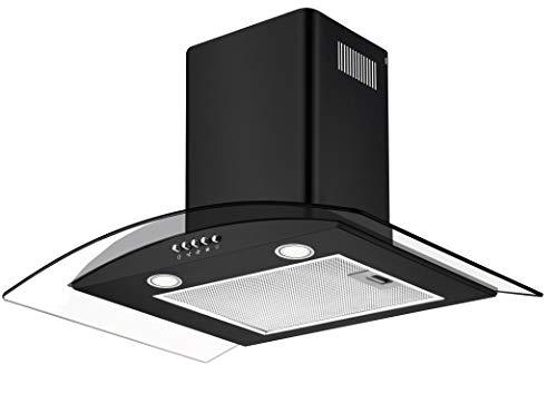 CIARRA Cappa Aspirante 60 cm, 550 m³/h, Controllo Pulsanti, Filtri Grassi, Luce LED, Vetro, Cappe...