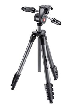 Manfrotto Compact Advanced - Trípode completo (con rotula 3 Way), negro