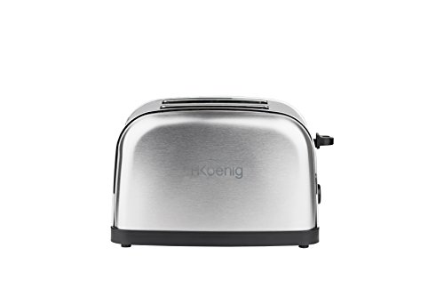 H.Koenig TOS7 Grille Pain Toaster - 2 Tranches - Inox - 850 W