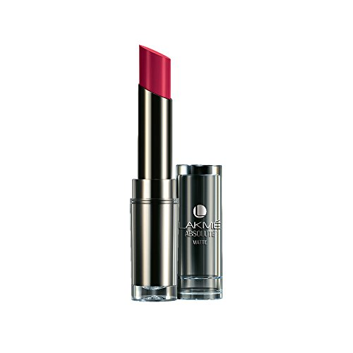 Lakme Absolute Matte Lipstick, Plum Spell, 3.7 g