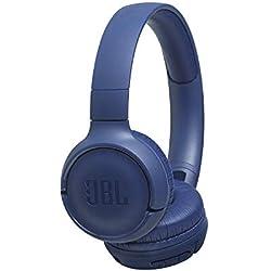 JBL Tune500BT - Auriculares supraaurales inalámbricos con conexiones multipunto y asistente de voz Google now o Siri, batería de 16 h, azul