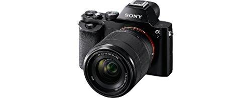 Sony Alpha ILCE-7K - Cámara EVIL (sensor Full Frame de 35 mm, 24.3 Mp, procesado en 16 bits, visor OLED, vídeo Full HD, Wi-Fi y NFC, objetivo 28-70 mm f/3.5-5.6 OSS) color negro