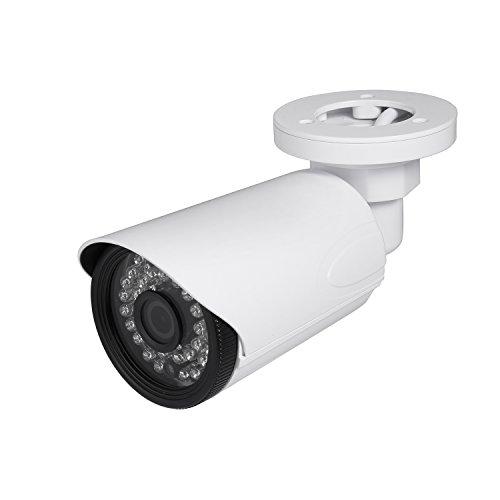 RevoTech HD 3MP Impermeabile IP Telecamera H.265 1080P 2MP da Esterno 36 LED Telecamera di Videosorveglianza Bullet con Visione Notturna ONVIF P2P CCTV Cam con IR-Cut (I6038 Bianco)