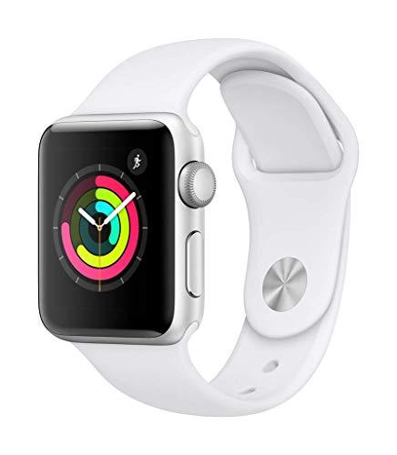 AppleWatchSeries3 (GPS) concaja de 38mm de aluminio enplata ycorrea deportiva - Blanca