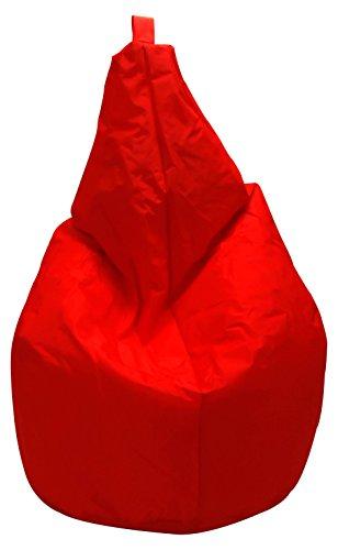 13Casa Nylon A6 Poltrona Sacco, Nylon, Poliestere, Rosso, 120 x 80 x 80 cm