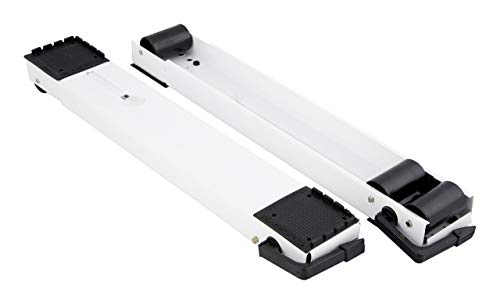 Meliconi 655032 Supporti Indipendenti con Ruote per Grandi Elettrodomestici, Metallo, Bianco