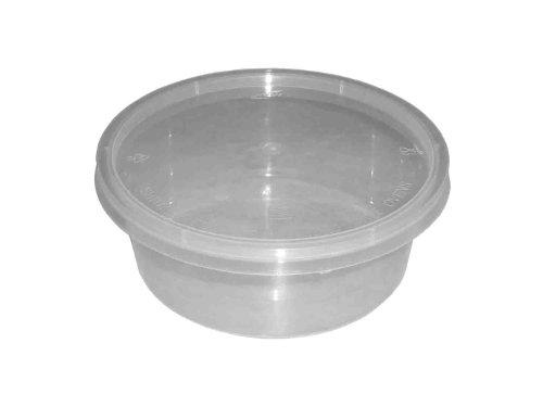50redondo 10oz Plástico transparente apta para microondas