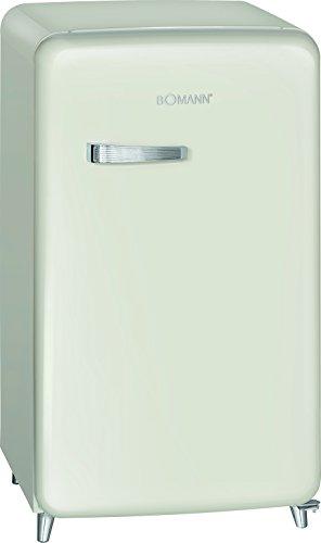 Bomann KSR 350 Kühlschrank, A++, Retro-Design, Kühlen 108 L, Gefrieren 13 L,Beige