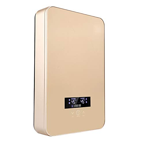 8500W / 6500W chauffe-eau électrique instantané intelligent 220V + ensemble de douche 3 pièces or/couleur rouge (or 8500W)