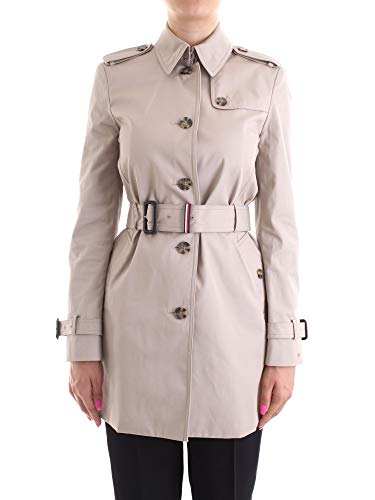 Tommy Hilfiger Heritage Single Breasted Trench Giubbotto, Grigio (Medium Taupe 055), X-Small Donna