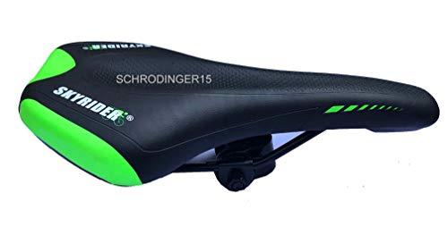 Schrodinger15 70067 Bicycle Cycle Bike Saddle Seat Mountain MTB Road (Black-Green)
