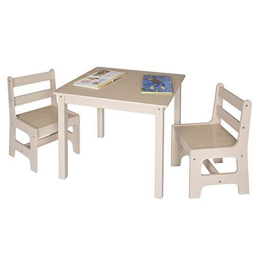 Mobile Soggiorno Tavolo E Sedie.Woltu Sg001 Tavolo E Sedie Per Bambini Soggiorno Tavolino Con 2 Sgabelli Set Mobili In Legno