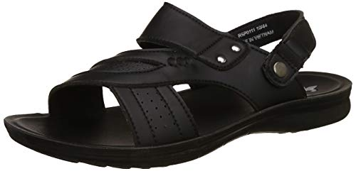 Bond Street by (Red Tape) Men's RSP011 Black Sandals-10 UK/India (44 EU) (RSP0111-10)