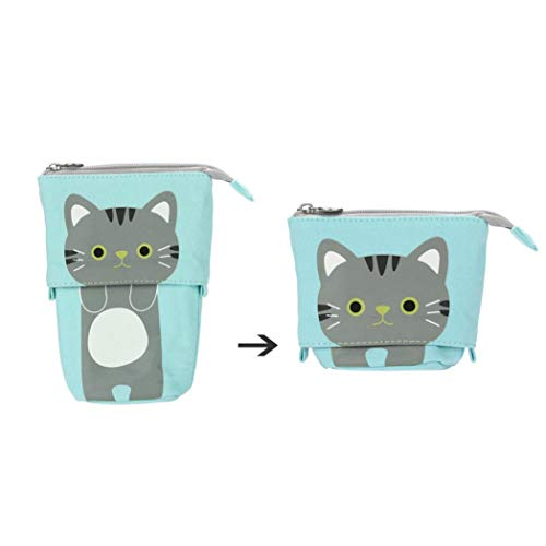 Gaddrt Pencil Case box Cartoon cute Cat telescopico a matita borsa cancelleria box ideale per...