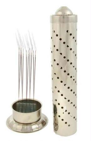 Fashion Bizz Diwali Pooja celebration Gift StainLess Steel Agarbatti Stand incense holder (Steel,regular) Pack Of 1