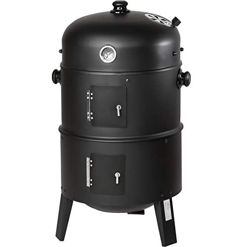 TecTake BBQ BARBECUE SMOKER A CARBONELLA - modelli differenti - (3in1 BBQ SMOKER (400820))