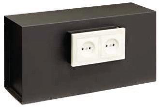 Arregui 23000W-S1 - Caja fuerte para empotrar camuflada tras una placa de enchufes, 9L, 400x200x130mm, Negro.