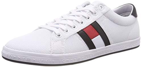 Tommy Hilfiger Essential Flag Detail Sneaker, Scarpe da Ginnastica Basse Uomo, Bianco (White 100), 42 EU