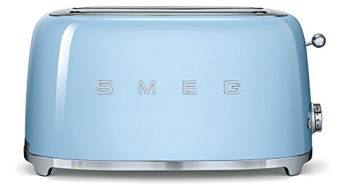 SMEG Tostapane TSF02PBEU, Acciaio Inossidabile, 2 Scomparti, Blu Pastello