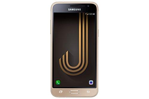 Samsung Galaxy J3, Smartphone Libre (5'', 1.5GB RAM, 8GB, 8MP/Versión Italiana: No Incluye Samsung Pay ni Acceso a promociones Samsung Members), Color Dorado