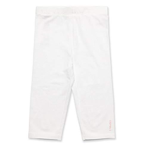 ESPRIT Kids Leggings Capri, Bianco (White 010), (Taglia Produttore: 104+) Bambina
