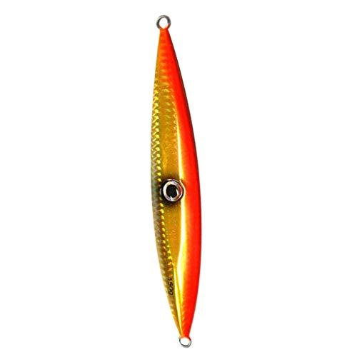 CUTICATE Hard Fishing Lure 150g Vertical Jig Lure Wobblers Cucchiaio in Metallo Bait Crankbait - Arancia