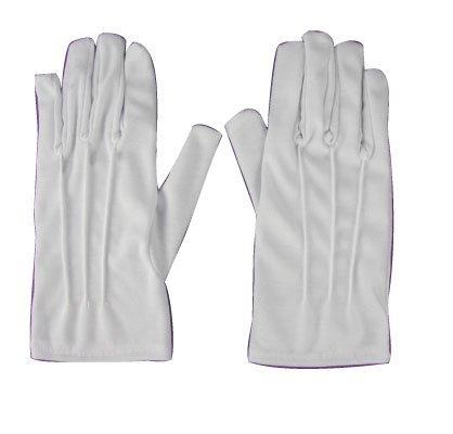guanti bianchi corti adulto per babbo natale santa claus dracula o vampiro o 700 o babbo natale g2....