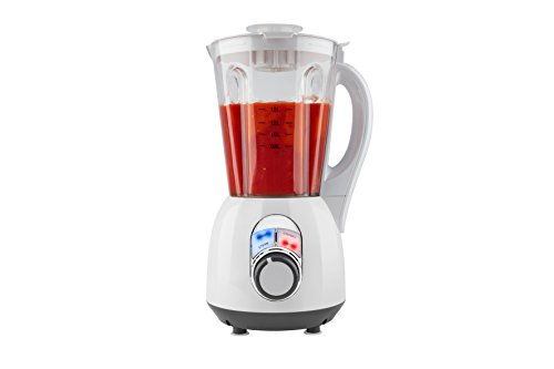 MEDION MD16411 Blender Chauffant - Appareil à Soupe Blanc/Transparent 800 Watts