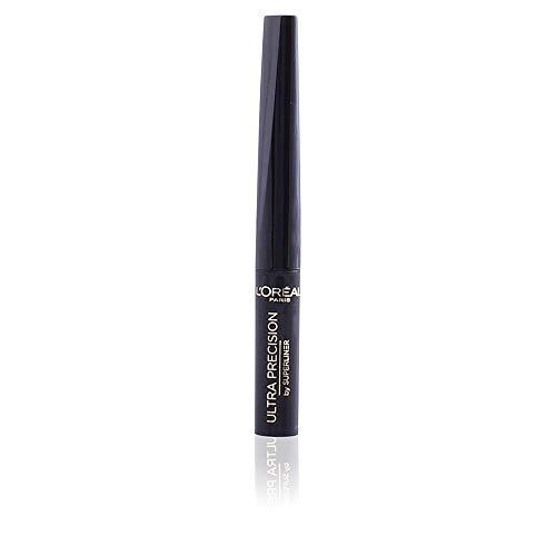 L'Oréal Paris Super Liner Ultra Precision Eyeliner in Schwarz, Flüssig-Eyeliner mit weicher und flexibler Feder für einfaches Auftragen, 2 ml