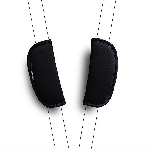 2 pezzi/set Universale Cinturino per Passeggino Imbottitura Della Cintura di Sicurezza Cuscino per Zaino da Viaggio (nero)