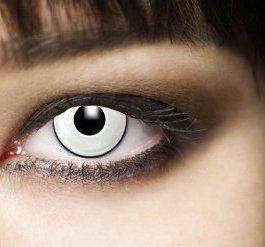 1 coppia,3 mesi, morbide, Halloween lenti a contatto, bianco Manson, vampiri, zombie,